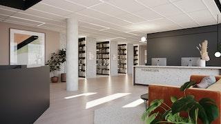 2571 Thommessen R26 08 Liten resepsjon mot bibliotek 02